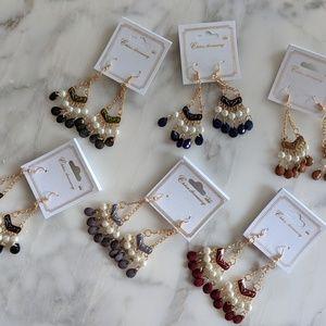 🌹Gem + Pearl Drop Earrings 🌹